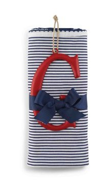 Mud Pie Cotton Receiving Blanket, G/Blue