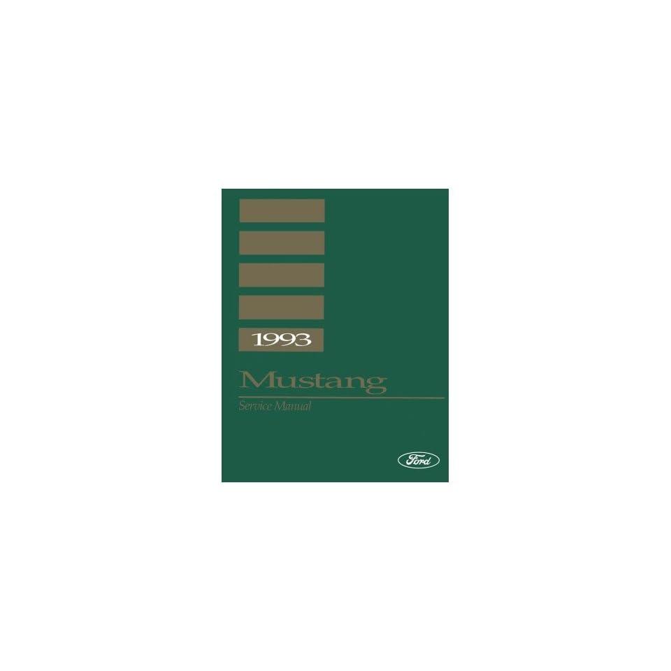 1993 Ford Mustang Shop Service Repair Manual Book Engine Drivetrain Wiring OEM