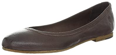 FRYE Women's Carson Ballet Flat,Dark Brown,8.5 M US