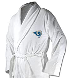 St Louis Rams White Unisex Robe
