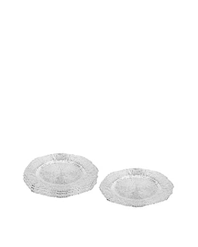 Vanderpump Set of 4 Infinity Chargers, Silver