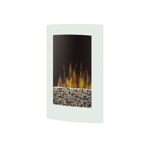 Dimplex Vcx1525Wh Electraflame Curved Recessed Wall Mount Electric Fireplace, White
