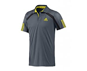 Adidas Barricade Traditional Men 39 S Polo Shirt Grey Dark