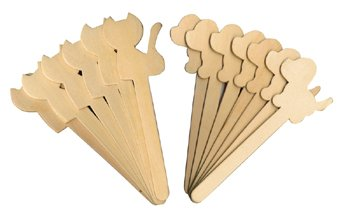 Dog and Cat Craft Sticks Package of 16 - 1