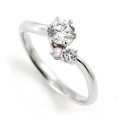 SUEHIRO 婚約指輪(エンゲージリング) プラチナピンクダイヤモンドリング(ラウンドブリリアント) #11