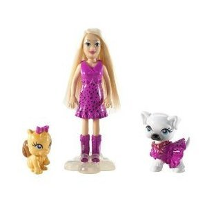 Buy Low Price Mattel Polly Pocket Sarklin Pets Friends with Polly & White Puppy & Squirrel Figure (B002PDELJG)