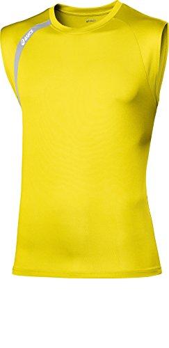Asics Performance - Maglietta senza maniche, Giallo (giallo), L