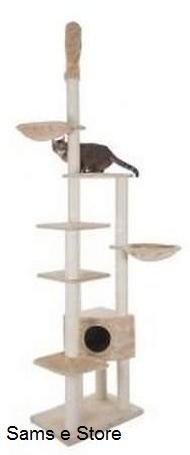 Deckenleuchte-Hohe-Katze-Baum-mit-Klettern-Plattformen-den-Hngematten-und-Kratzstmmen-Geeignet-fr-Katzen-und-Ktzchen