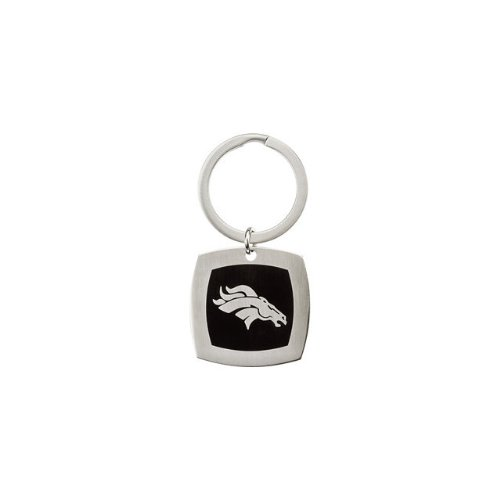 24606 St Steel 35mm Denver Broncos Logo Keychain Football NFL Men Team Jewelry