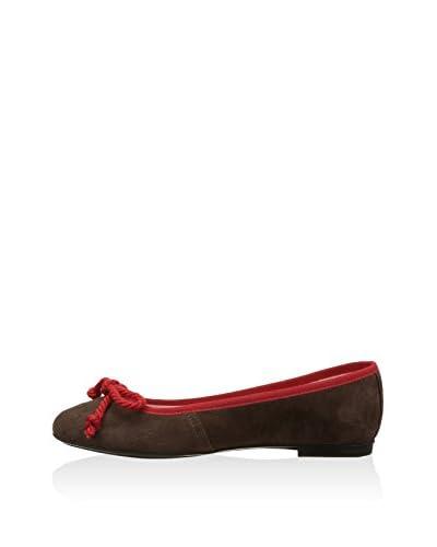Bisue Ballerina schokolade/rot EU 38
