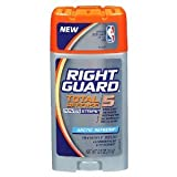 Right Guard Total Defense 5 Power Stripe Invisible Solid Antiperspirant - Arctic Refresh 75 g (Pack of 6)