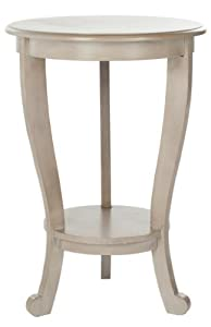 Luxury The Features Safavieh American Home Collection Lexington Pedestal End Table Vintage Grey