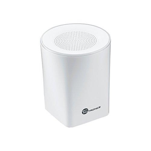 Altoparlante Bluetooth TaoTronics Speaker Stereo Portatile 4.0 + EDR (A2DP, Microfono Incorporato, Luce LED, Audio Alta Fedeltà, 6 Ore di Durata in Fase di Utilizzo)- Bianco