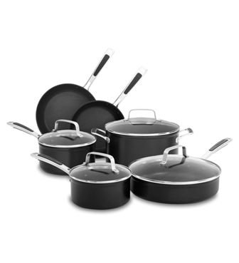 Hard Anodized Nonstick 10-Piece Set Midnight Black (Kitchenaid Cookware Set compare prices)