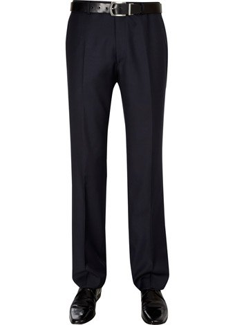 Austin Reed Contemporary Fit Navy Check Trousers REGULAR MENS 30