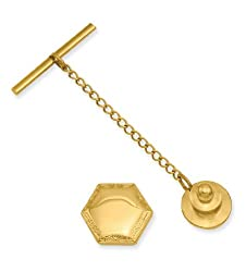 Gold-plated Hexagon Tie Tack