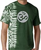 OM Aum Yoga Meditation Symbol Fusion Tie Dye Adult T-shirt - Forest Green, Small