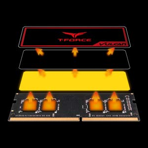 T-Force Vulcan SO-DIMM DDR4 16GB Single (16GBx1) 2666MHz (PC4-21300) CL18 Gaming Laptop Memory with Super-Slim Graphene Copper-foil Heat Spreader TLRD416G2666HC18F-S01 (Color: Vulcan Single-channel for Gaming Laptop, Tamaño: 16GB (16GBx1) - 2666MHz C18)