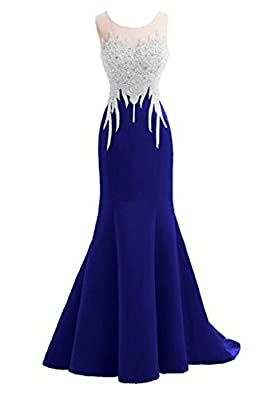 Felaladress® Crystal Mermaid Sexy Backless Sparkly Long Prom Evening Dresses