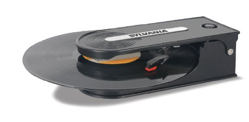Read About Sylvania Turntable Record Player with USB Encoding, Black
