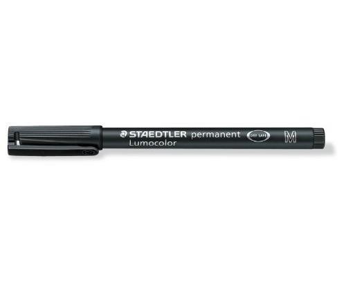 STAEDTLER Lot de 6 Lumocolors marqueur permanent 317M, noir, largeur 1mm