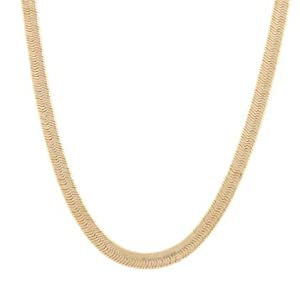 JOTW 2 Pieces of Goldtone 5mm 30 Inch Herringbone Chain Necklace
