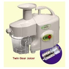 Samson Ultra Electric Twin Gear Wheatgrass Juicer - Perfect Juice Machine for Juicing Fruits, Vegetables, Wheat Grass, Barley Grass & More.