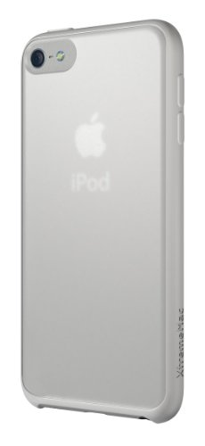 XtremeMac Microshield Accent IPT-MAN-03 - Bordo Gommato per iPod Touch 5, Colore Bianco, Trasparente