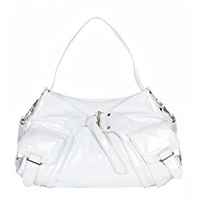 Kooba Isabella Leather Shoulder Bag (White Patent)