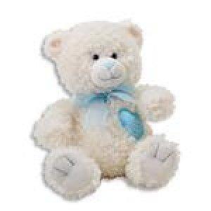 God Danced The Day You Were Born - Plush Teddy Bear - For New Baby Boy - Soft Cuddly - Christening - Baptism Gift -Blue