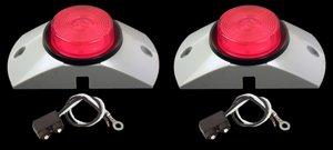 """2.5"""" Red Led Semi Truck Trailer Boat Marker Lights Kit"""
