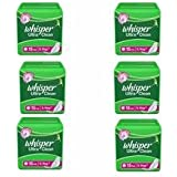 Whisper Ultra Clean - XL Wings (15 Pads) Pack Of 6