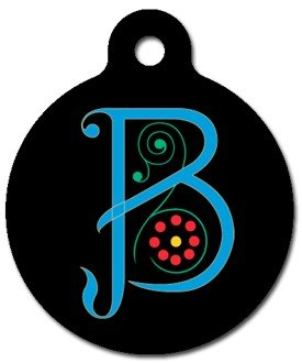 Monogram Letter B Pet ID Tag for Dogs and Cats