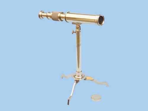 "Brass Telescope On Stand 17"" - Floor Standing Telescopes - Nautical Decor Home Decoration - Executive Promotional Gift"
