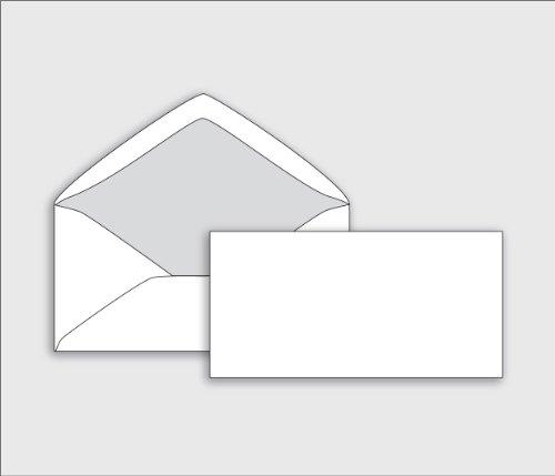Enveloppes longues doublées (25 pièces) - enveloppes avec doublure