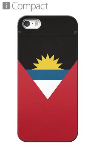 CollaBorn ミラー&ICカード入れ付きiPhone5/5s専用コンパクト型ケース iCompact 「アンティグア・バーブーダ国旗 」