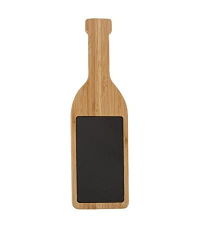 Core Bamboo Large Wine Bottle Board with Slate