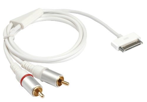Ziotek ZT1900665HC1 3-Feet Ipod 30Pin To Rca Stereo Cable, White