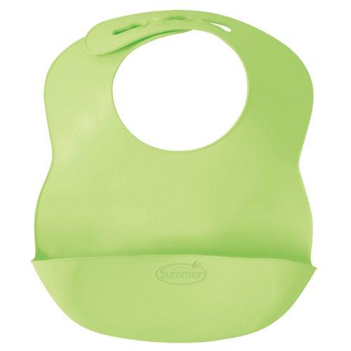 Summer Infant Bibbity Rinse and Roll Portable Bib, Green