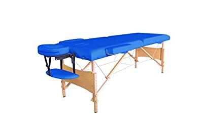 New 2014 Blue Portable Massage Table w/Free Carry Case T1 Chair Bed Spa Facial