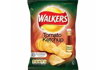 Walkers Crisp Tomato Ketchup 32.5g Bags (box Of 48) Picture