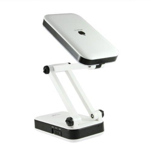 DP Portable Eye Protection LED Desk Lamp,Reading Light,Foldable &Rechargeable,2 Brightness Settings(