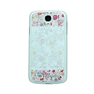Lace Flower Pattern Hard Case for Samsung Galaxy S4 I9500