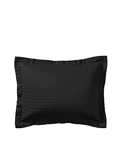 Belle Epoque Cotton Quilted Sham, Black, Standard