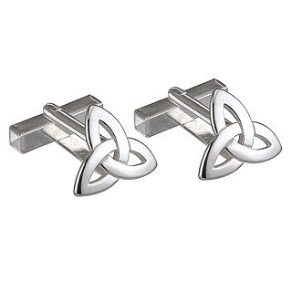 Sterling Silver Small Trinity Knot Cufflinks-Made in Ireland