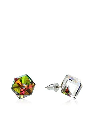 Crystal from Swarovski Pendientes Verde / Marrón