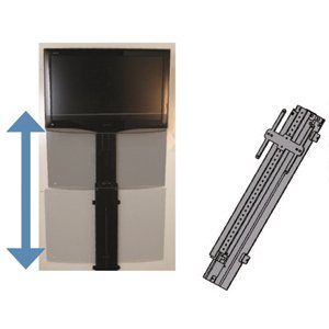 mor ryde tv20001h motorized vertical tv wall. Black Bedroom Furniture Sets. Home Design Ideas