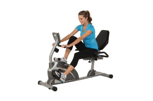 Exerpeutic Heavy Duty Magnetic Recumbent Bike with Pulse