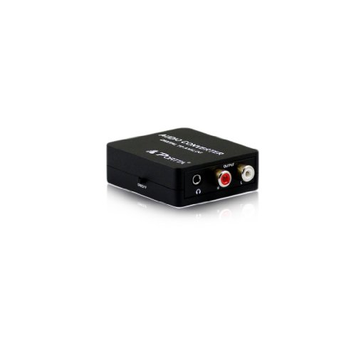 Portta Petdas Digital To Analog Audio Converter - Optical Spdif Toslink Coaxial To Rca L/R Adapter With 3.5Mm Jack, 24-Bit 192Khz Dac Supports Simultaneous Headphone And Speaker Outputs