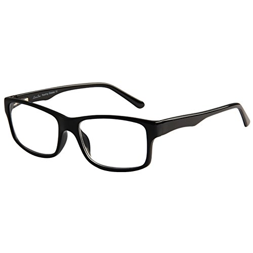 LianSan Brand Designer Fashion Acetate Reading Glasses Men Full Frame Spectacle Glasses Women Spring Hinged Arms Reading Eyeglasses L7801 (+1.50, black)